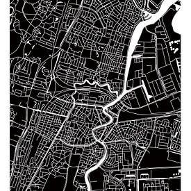 Haarlem Centre | Plan de la ville BlackWhite sur Wereldkaarten.Shop