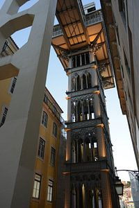 Lissabon Santa Justa Lift van Philippe Wuestenbergs