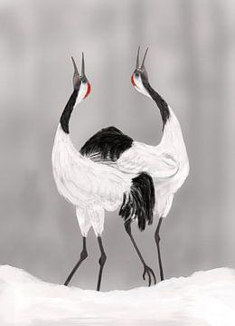 Balts van de Japanse kraanvogels van Hans van Gurp