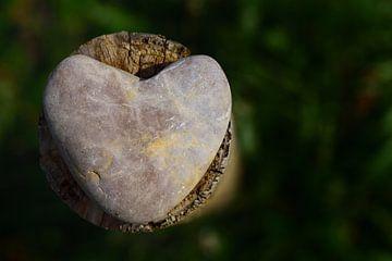 Galet en forme de coeur sur Ulrike Leone