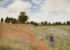 Klaprozenveld bij Argenteuil, Claude Monet