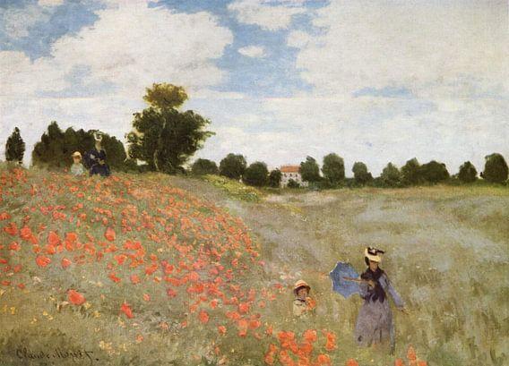 Klaprozenveld bij Argenteuil, Claude Monet van Meesterlijcke Meesters