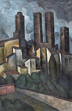 San Gimignano, ALEXANDER KANOLDT, 1916 van Atelier Liesjes