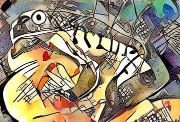 Frosch auf einem Stein von zam art