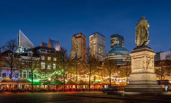 Avondfoto Plein in Den Haag