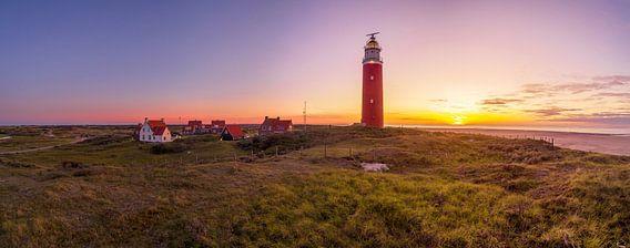 Vuurtoren Eierland Texel - zonsondergang