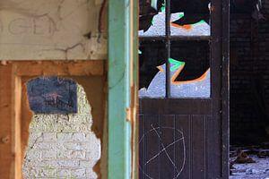 Detailopname van een verlaten gebouw