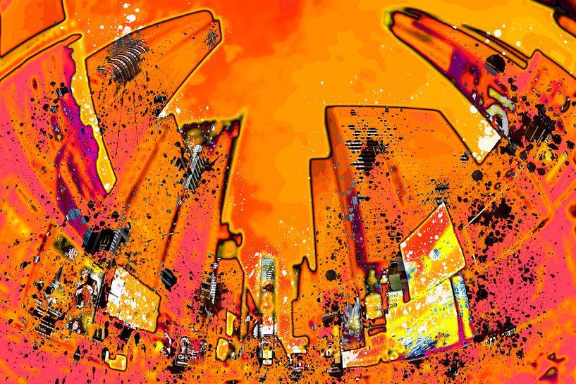 Digital-Art NYC Times Square II van Melanie Viola