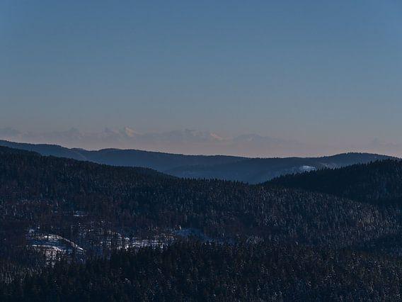 Zuidelijk Zwarte Woud met Alpen in de winter