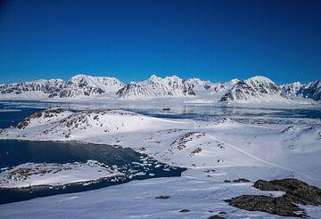 Landschaft Fjorde und Berge Spitzbergen von Merijn Loch