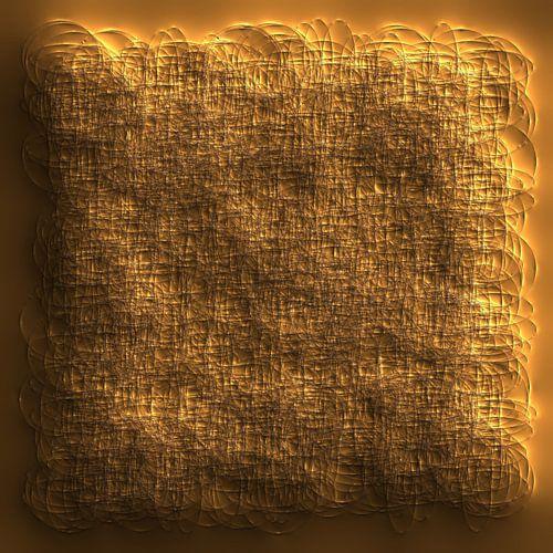 Abstract Stijl Rondjes Beige