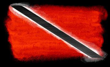 Symbolische nationale vlag van Trinidad en Tobago van Achim Prill