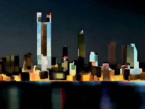 25. City-art, abstract, stad F. van Alies werk