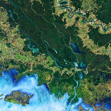 Mississippi vanuit de ruimte von Moondancer .