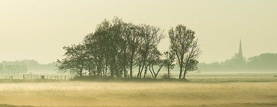 Mistig landschap  van Dirk van Egmond