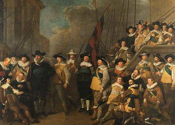 Die Kompanie des Hauptmanns Cornelis de Graeff und dessen Leutnant Hendrick Lauwrensz Jacob Adriaens