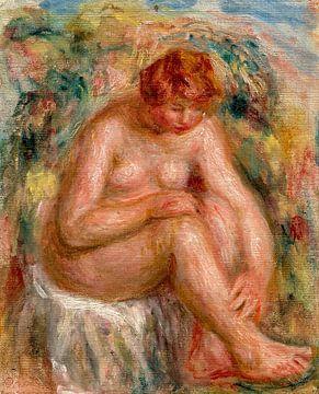 Nackt sitzende Frau, August Renoir von Atelier Liesjes
