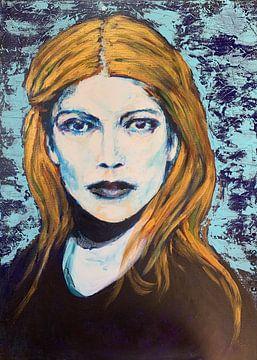 Mädchen mit goldenem Haar von Caroline Jacobs
