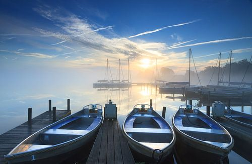 Jachthaven zonsopkomst