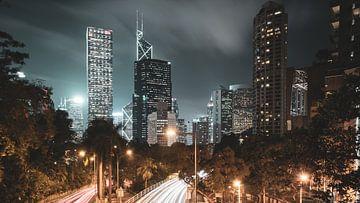 Hong Kong skyline en snelweg van Govart (Govert van der Heijden)