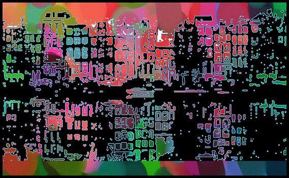 Amsterdam reflets dans l'eau sur MY ARTIE WALL
