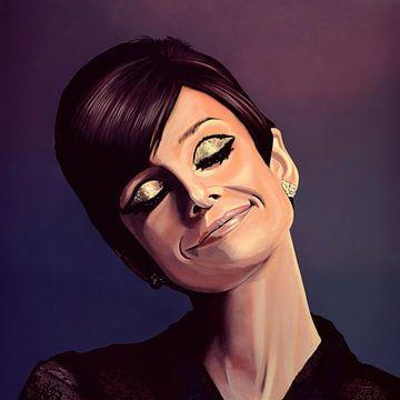 Audrey Hepburn schilderij van Paul Meijering