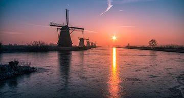 Sonnenaufgang Kinderdijk 1 von Henk Smit