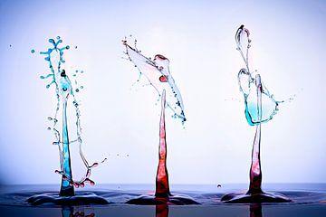 3 Kleurrijke splashes van