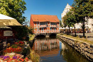Rotes Haus in Wismar, Deutschland von Adelheid Smitt