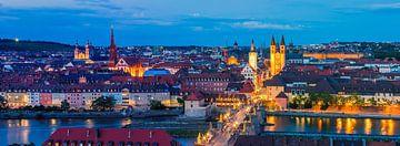 Panorama foto van een avond in Würzburg