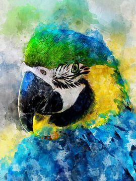 Papagei von Printed Artings