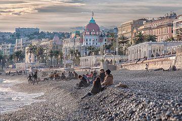 Strand Nice (Frankrijk) van Anouschka Hendriks