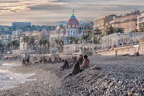 Strand Nice (Frankrijk) van