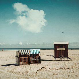 Strandstoelen en kleedkarren Strand Spiekeroog van Dirk Wüstenhagen