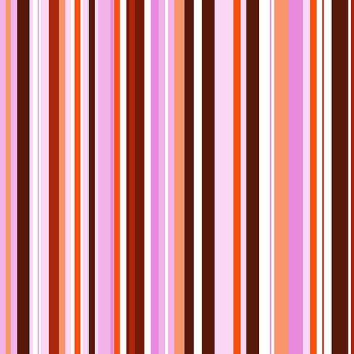 Striped art pink red van