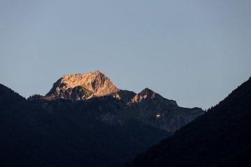 Bergabgang Sonne von Jarno Dorst