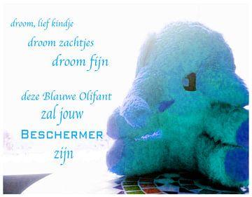 Blauwe olifant voor fijne dromen von Ingrid Jansen