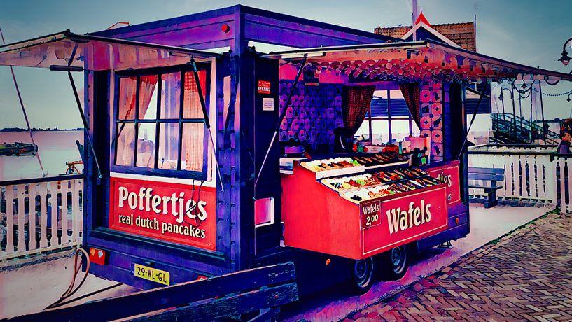 Poffertjeskraam Volendam von Digital Art Nederland