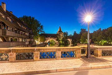 Altstadt in Nürnberg bei Nacht von Werner Dieterich