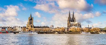 Skyline of Cologne van Günter Albers