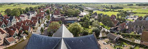 panorama van De Rijp uit de lucht