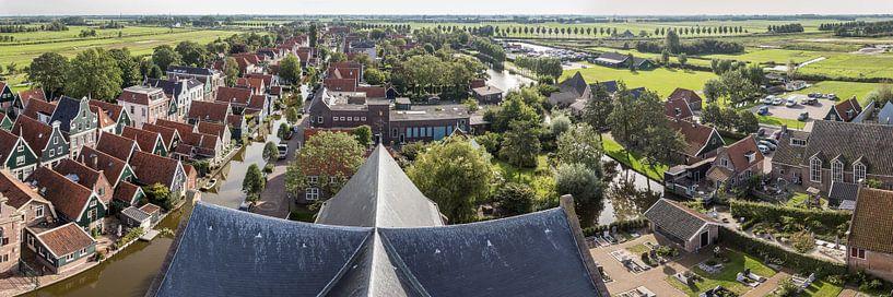 panorama van De Rijp uit de lucht van Contrast inBeeld