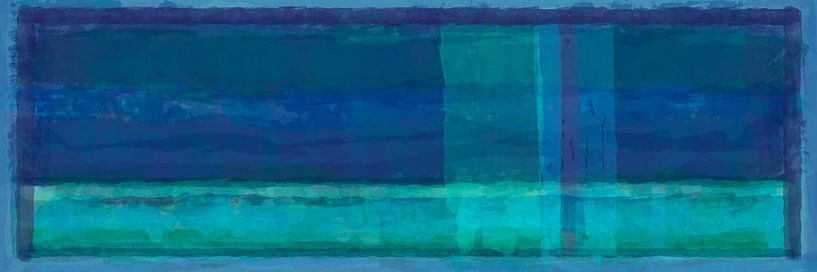 Panorama 'Rothko', blauwtinten van Rietje Bulthuis
