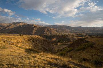 uitzicht op de vallei in Coporaque, Peru