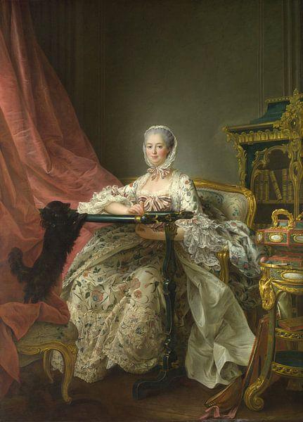 Porträt der Madame de Pompadour, François-Hubert Drouais von Meesterlijcke Meesters