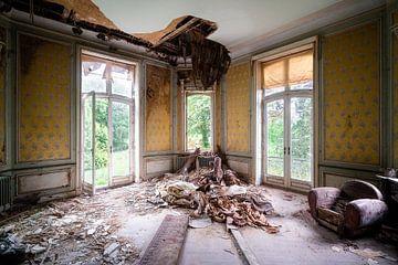 Kamer in Verval in Verlaten Kasteel.
