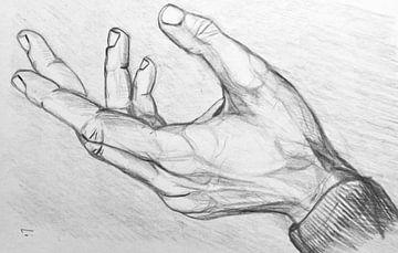 Zeichnen einer Hand. von Therese Brals