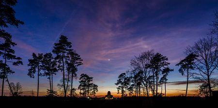 Panorama zonsondergang Radio Kootwijk van Sander Grefte