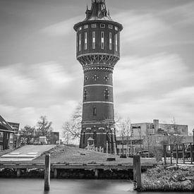 Wasserturm in Sneek, schwarz und weiß von Patrick Verhoef