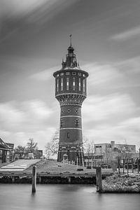 Watertoren in Sneek, zwart wit van Patrick Verhoef